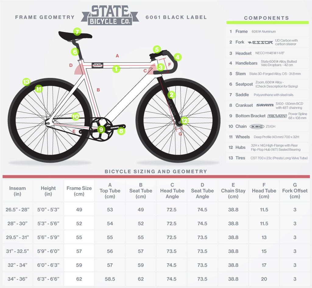 State Bicycle 6061 Black Label Matte Black Fixie75 Com